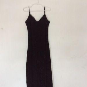 Maxi Dress Black/Silver